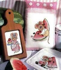 Схемы для вышивания крестиком: Мышки. Автор. Рукоделие